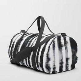 Tie-Dye Shibori Stripe BW Duffle Bag