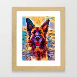 German Shepherd 8 Framed Art Print