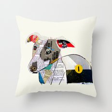 joey the greyhound Throw Pillow