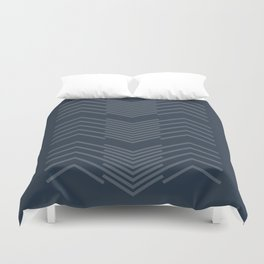 Blue Zags Duvet Cover