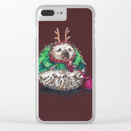 Holiday Sweater Crochet Critter Clear iPhone Case