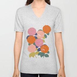 Flowers In Full Bloom Unisex V-Neck
