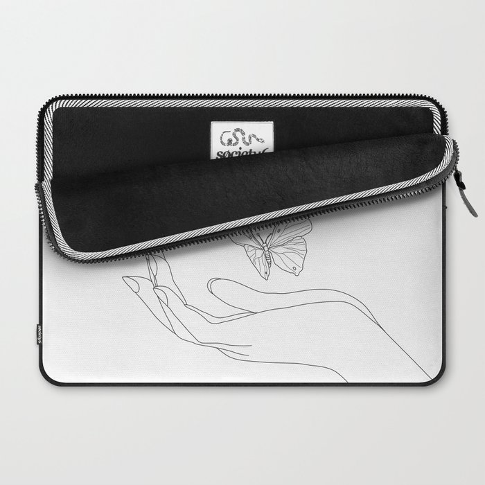 Butterflies on the Palm of the Hand Laptop Sleeve