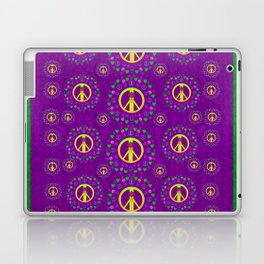 Peace be with us in love and understanding Laptop & iPad Skin