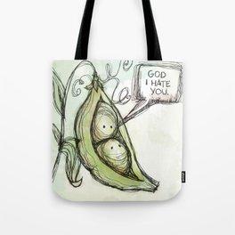 peas & hate you Tote Bag
