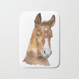 Horse Head Watercolor Bath Mat