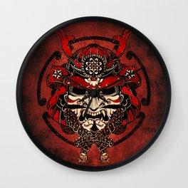 Samurai Mask, Budo, Bushido, Wall Clock