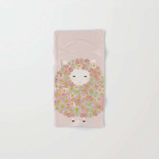 Flowery Sheep Hand & Bath Towel