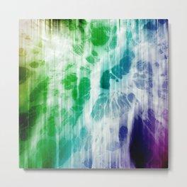 Retro, Boho Chic Tye-Dye Pattern Metal Print