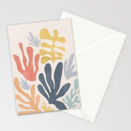 Matisse Cutouts Homage - Abstract Painting Stationery Cards