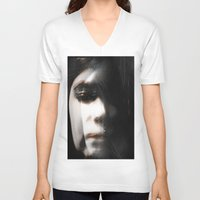 hologram V-neck T-shirts featuring Hologram by Tiana LeBlanc
