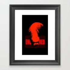 Endangered Giant Otter Framed Art Print