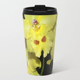 Glorious Golden Orchid - Odontonia Yellow Parade Alpine Travel Mug