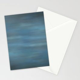 Abstract Soft Watercolor Blend Graphic Design 12 Black, Dark Blue and Light Blue Stationery Cards