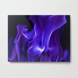 Ultra Violet Flames Metal Print