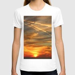 Fiery Sunset Over Naples Beach T-shirt