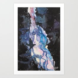 A Parakeet In the Stars Art Print
