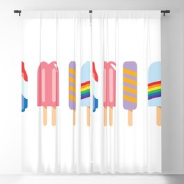 Popsicles - Four Pack White #156 Blackout Curtain