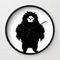 sasquatch Wall Clocks featuring Sasquatch by Ryan W. Bradley