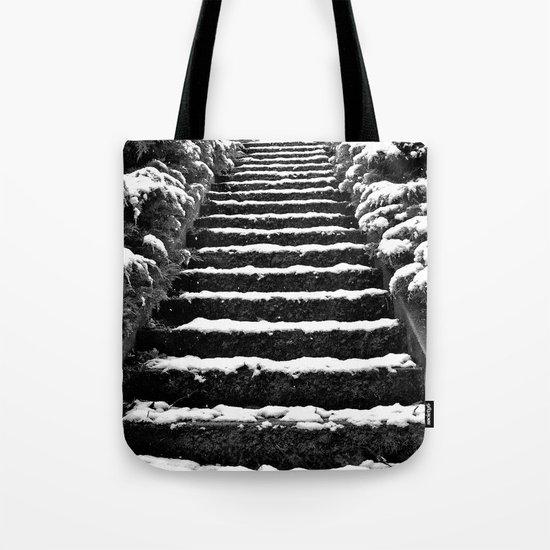 Winter stairway Tote Bag