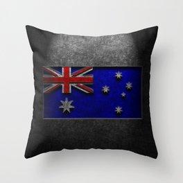 Australian Flag Stone Texture Throw Pillow