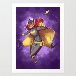 Batgirl of Burnside Art Print