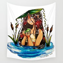Taino Girl with Coqui Wall Tapestry