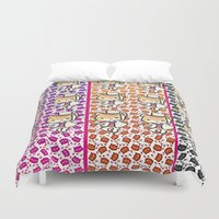 returns Duvet Covers featuring the cat returns  by grapeloverarts