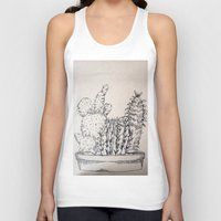 cacti Tank Tops featuring Cacti by Goni Halevy