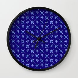Blizzard Blues III Wall Clock