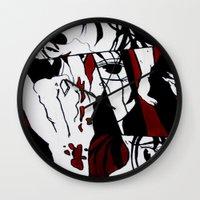grafitti Wall Clocks featuring Grafitti Manga by Fine2art