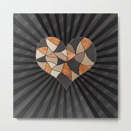 Heart . Patchwork . Metal Print