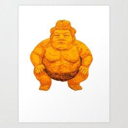Sumo Orange Art Print