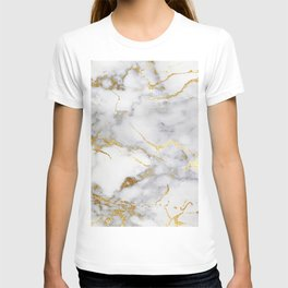 Italian gold marble T-shirt