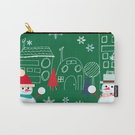 Winter fun green Carry-All Pouch