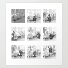 A Day in the Life of A Fairy Tale Bakery Art Print