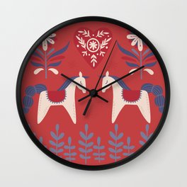 Swedish Christmas 2 Wall Clock