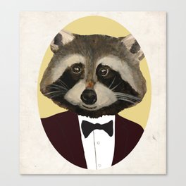 Sophisticated Raccoon Canvas Print