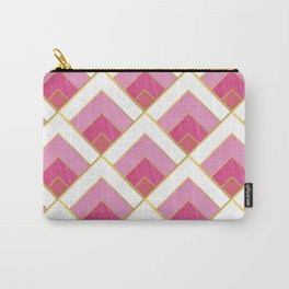 Pink and Gold Diamond Art Deco Pattern Carry-All Pouch