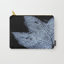 Leaf with Droplets Carry-All Pouch