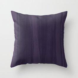 Deep Violet Wash Throw Pillow