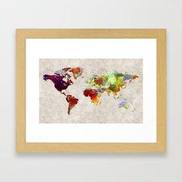 World Map 62 Framed Art Print