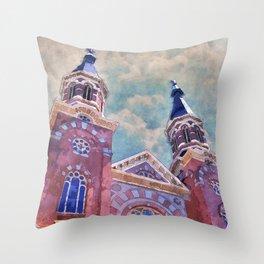 St. Mary's Catholic Church Throw Pillow