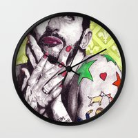 marc johns Wall Clocks featuring Marc Jacobs by Joseph Walrave