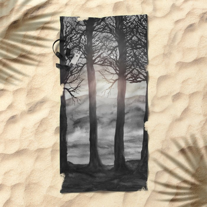 Grateful Love Song B&W Beach Towel
