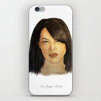 aaliyah iPhone & iPod Skins featuring Aaliyah by Nina Bryant Studio