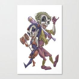 a joking pair Canvas Print