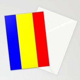 Flag of romania 2 -romania,romanian,balkan,bucharest,danube,romani,romana,bucuresti Stationery Cards