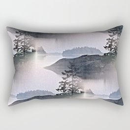 Misty Glow at Archipelago Rectangular Pillow