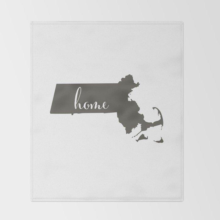 Massachusetts is Home Throw Blanket